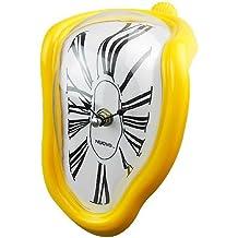 Jedfild Personalità creativa orologio pensile soggiorno studio orologio da parete Orologio a campana di quarzo Orologio silenzioso orologio orologio orologio da tavolo, 8 pollici (20 cm di diametro), Roma giallo