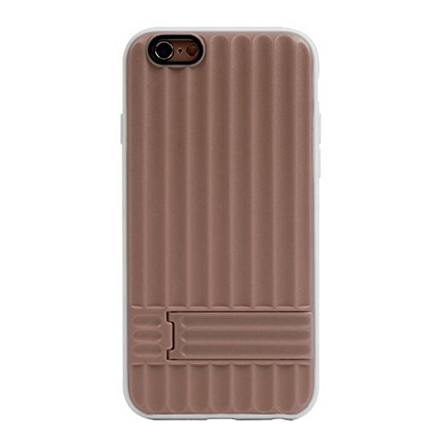 Pour IPhone 6 / 6S, texture verticale TPU Frame Plastic Protective Case YAN ( Color : Green ) Brown