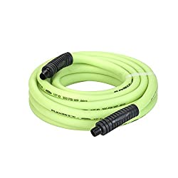 Flexzilla Air Hose, 12 In. X 25 Ft, 38 In. Mnpt Fittings, Heavy Duty, Lightweight, Hybrid, Zillagreen - Hfz1225yw3