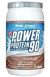 Body Attack Power Protein 90, Chocolate Cream, 1 kg, 5K Eiweißpulver mit Whey-Protein, L-Carnitin und BCAA für Muskelaufbau und Fitness