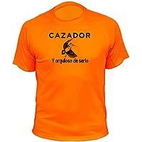 Camiseta de Caza Cazador y Orgulloso de Serlo, Becada - Ideas Regalos (30225, Naranja, M)