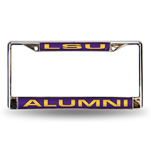 Unbekannt NCAA LSU LSU Alumni Laser Chrom Rahmen Sports Fan Automotive Zubehör, Multicolor, One Size Lsu Laser