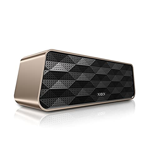 Micrael Home Wireless Portable Bluetooth Car Stereo Speaker Support Micro TF SD USB Charge Port Subwoofer - Golden