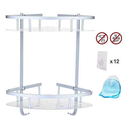 Get it safe mensola angolare doccia bagno alluminio 2ªgenerazione design universale adesivo muro + porta lametta