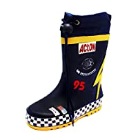 SendIt4Me Little Boys Blue Action Car Drawstring Wellington Boots