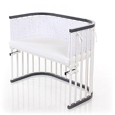 Babybay 160108auxiliar cama máxima de color gris/blanco lacado extra ventilado, Gris