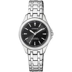 Citizen Damen-Armbanduhr Analog Quarz Edelstahl ES4020-53E