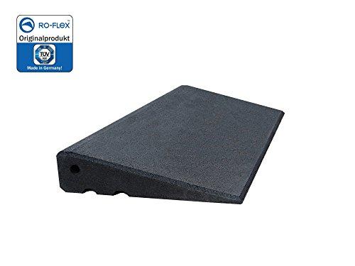 Türschwellenrampe Excellent 750/65 mm hoch aus Gummigranulat hochverdichtet (schwarz)