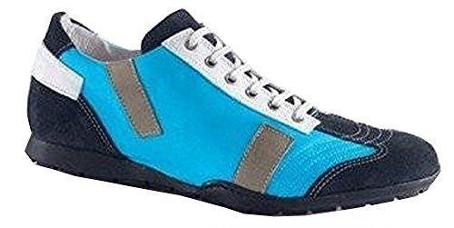 Lacets Pour Chaussures En Cuir / Textile - Couleur: Bleu Bleu