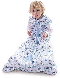 Snoozebag Planes and Trains 100% Cotton Boys 2.5 Tog Nursery Baby Sleeping Bag Blue 18-36 Months (110cm)