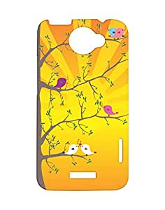 Mobifry Back case cover for HTC One X Mobile (Printed design)