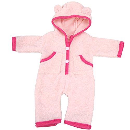 18-Zoll Puppenkleidung Kleiden Für America Girl Puppen Mädchen-Kleidung Puppen Sammlung - Hellrosa