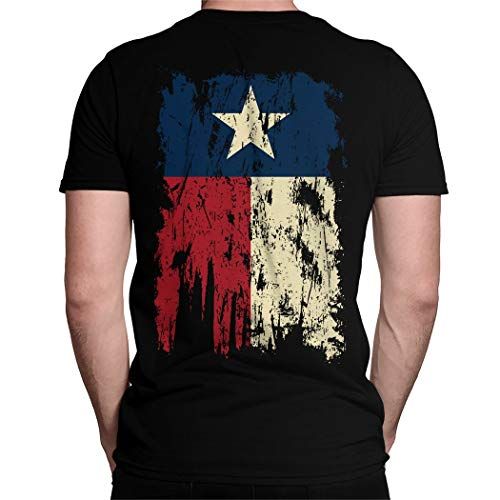 Vintage Distressed Texas Flag Back Print Men's T-Shirt -