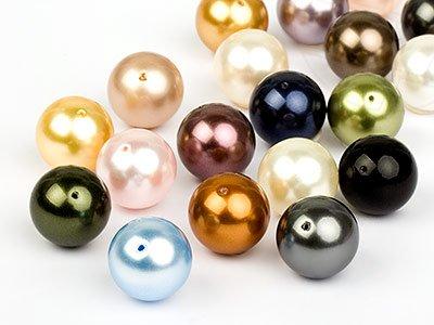Glaswachsperlen zum Auffädeln von Swarovski Elements (Color Mix) 4mm 100 Stück