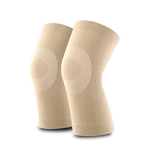 Kniepolster, dünne Abschnitt Unisex vier Jahreszeiten atmungsaktive Sport Knieschützer, warme Knieschützer, Kälteschutz (Farbe : Skin tone)