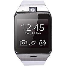 Reloj Inteligente,Xinan Aplus GV18 Impermeable Teléfono GSM NFC para Samsung iPhone (Blanco)