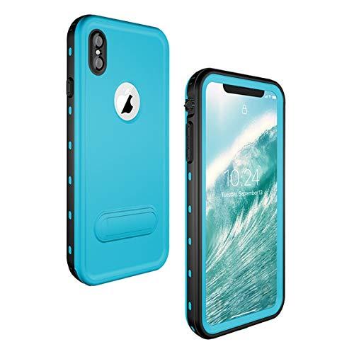 adorehouse iPhone XS Max Wasserdichte Hülle Stoßfest Unterwasser Tasche Transparente IP68 Zertifizierung Staubdicht Schneedicht Wasserfeste Schutzhülle für iPhone XS Max(Grass Blue)