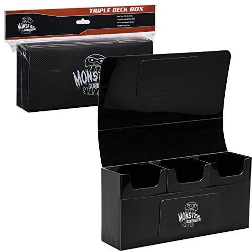 Monster Magnetic Triple Deck Box Matte Black - Deck Matte