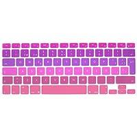 """GSuMio Española Cubierta del teclado / Keyboard Cover para MacBook Pro 13"""" 15"""" 17"""" & Air 13"""" , MacBook Pro 13"""" Retina & MacBook Pro 15"""" Retina EU/ISO Disposición Silicone / Silicona Skin - mezclar rosa púrpura"""