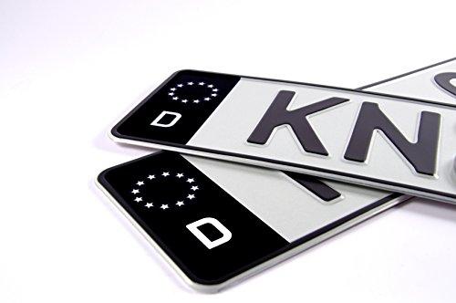 KFZ Kennzeichenaufkleber zum einfachen ändern der blauen EU Nummernschild Fläche in schwarz - 2