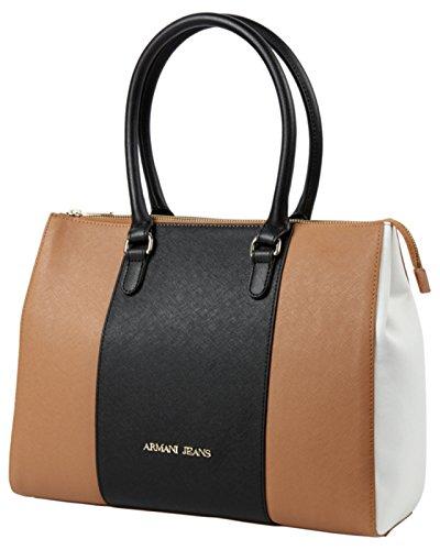 Armani Jeans Tasche Henkeltasche Handtasche Shopper Bag 922574 Cognac