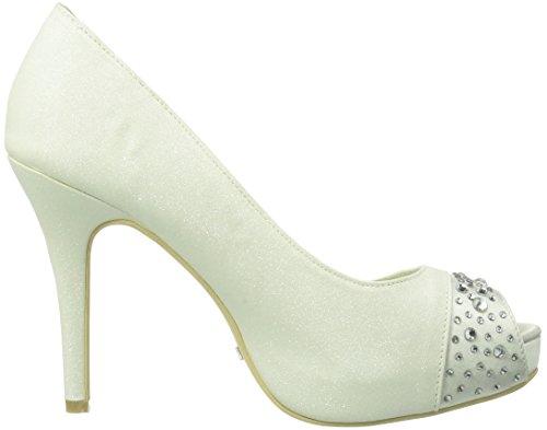 Menbur Wedding  Nati, Escarpins pour femme Blanc - Elfenbein (Ivory 04)