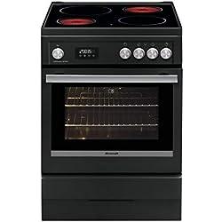 Brandt bcv6650a-cuisiniere Table de Cuisson vitrocéramique-4 Zones-Four électrique-pyrolyse-56 l-a-l 60 x h 85 cm-Noir