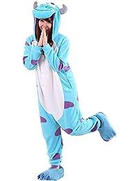 YARBAR Kigurumi Pijamas Unisexo Adulto Traje Disfraz de Halloween Animal Pyjamas Sullivan