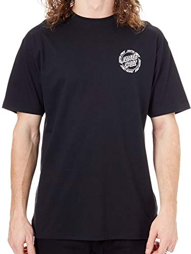 Santa Cruz Schwarz Ringed Dot T-Shirt (Large, Schwarz) - Dot Herren T-shirt