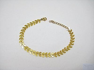 Bracelet épis - Fishbone - arête de poisson - chevron doré ou argenté