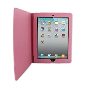 Pink iPad 2 & 3 Leather Case & Screen Protector Kit for New Apple iPad 2nd & 3rd Generations