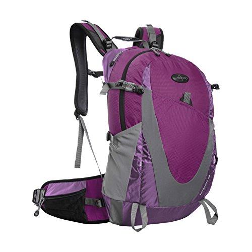 Zaino outdoor alpinismo/Zaino trekking grande impermeabile/zaino da viaggio-giallo 28L rosso 1