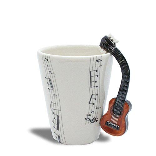 Imagen de taza de cerámica con música mango  acústica