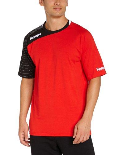Kempa CIRCLE, Maglietta da allenamento a maniche corte, colore: Giallo/ Nero, Rosso (rot/schwarz), XXS