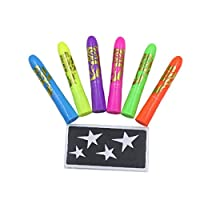 6 Colors Face Paint Crayons Face Painting Kits Luminous Crayons for Halloween