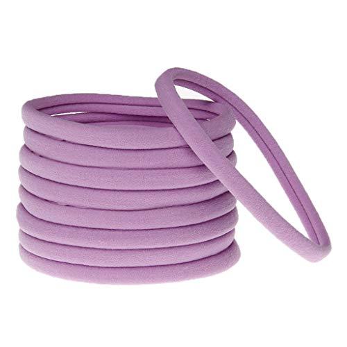 SLYlive Nahtlose elastische Haar-Zusätze der Kinder - Purpur