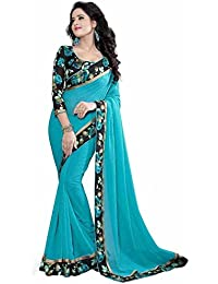 Devani Brothers Georgette Saree (Zeel-242_Sky Blue)