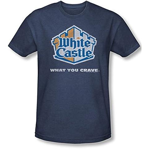 White Castle - - Hombre apenó el logotipo Camiseta