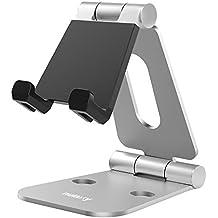 Soporte Multi-ángulo, Nulaxy Multi-Ángulo Aluminio Portátil Soporte para 4-10 inches iPhone, iPad, Samsung Galaxy S7/S6 y E-readers