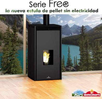 Bronpi - Estufa DE Pellet SIN Electricidad Modelo Free