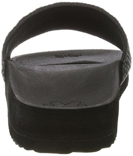 flip*flop Damen Poolbraid Metallic Offene Sandalen Schwarz (Black)