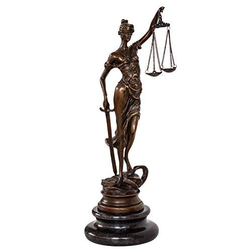 Gebraucht, Bronzeskulptur Justitia Justizia Bronzefigur Bronze gebraucht kaufen  Wird an jeden Ort in Deutschland