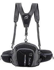Ligero cintura bolsa bandolera, multiusos impermeable pecho hombro desequilibrio mochila Crossbody Bolsa Para escalada al aire libre, senderismo, Camping, Correr, viajar, negro