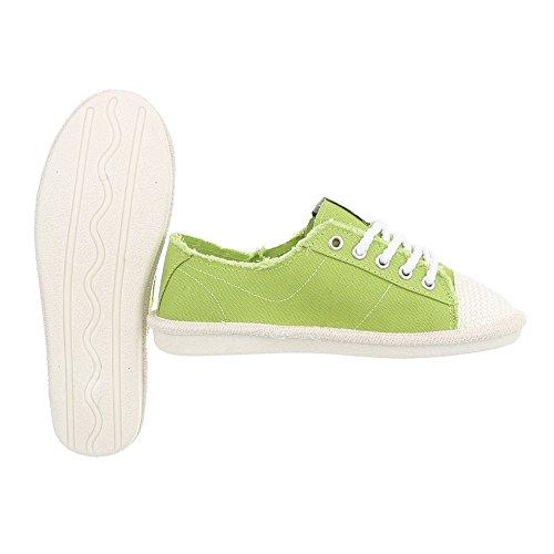 Ital-Design Scarpe da Donna Sneaker Piatto Sneakers Low verde D-39