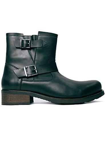 Will's Vegan Shoes BIKER BOOTS BLACK-UK 10/EU 44/US 11