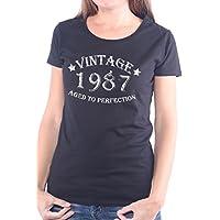 Mister Merchandise Donne Donna Camicetta T-Shirt Vintage 1987 Aged To