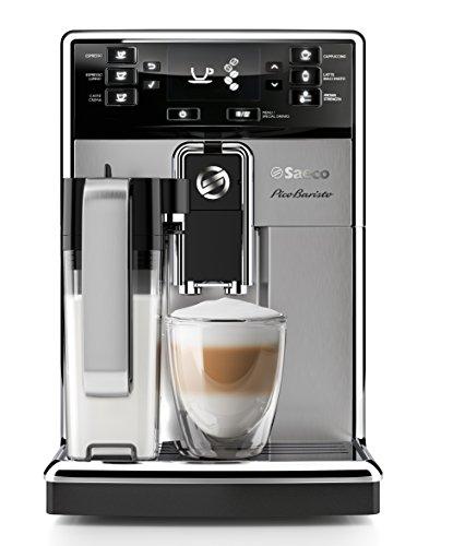 Saeco HD8927/01 PicoBaristo Kaffeevollautomat (1450 Watt, integriertes Milchsystem) edelstahl
