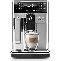 Saeco HD8927/01 PicoBaristo Machine à Café Automatique Inox/Noir, Carafe à lait compatible lave-vaisselle