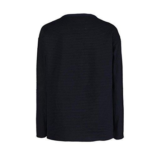 BZLine® Damen Casual Langarm Bandage T-Shirt Pullover Oberteile Mantel Sweatshirt Dunkelblau