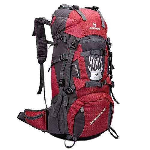 Jaszhao outdoor travel zaino outdoor sport 70l grande capacità zaino antipioggia campeggio alpinismo zaino escursionismo zaino adatto per il campeggio alpinismo attività all'aperto,c